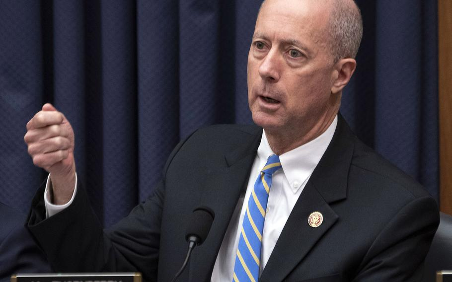 House Armed Services Committee Ranking Member Rep. Mac Thornberry, R-Texas., makes a point during a Navy budget hearing on Capitol Hill, Feb. 27, 2020.