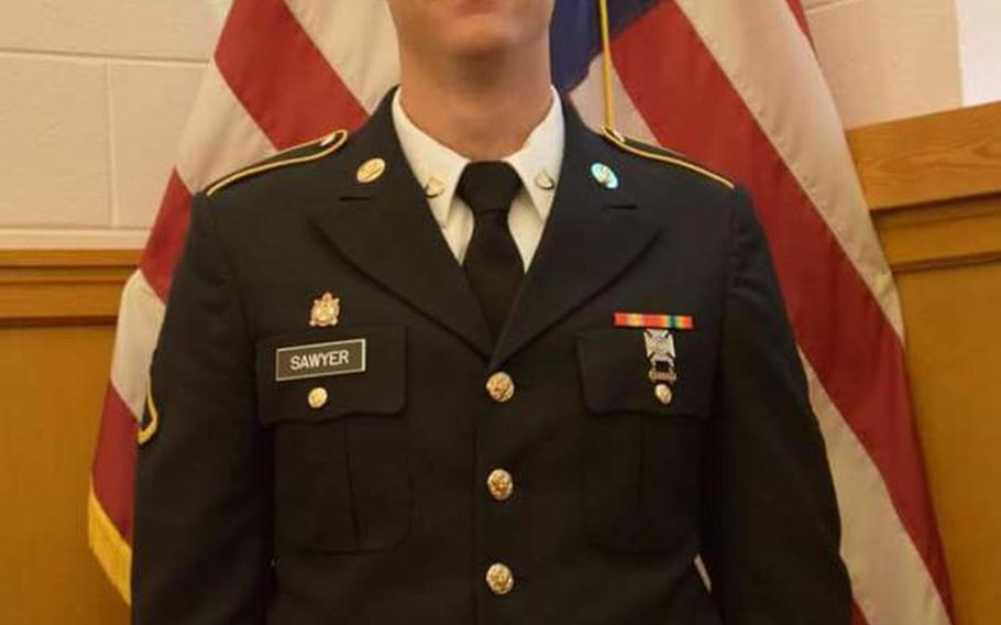 """Spc. Christopher Wayne Sawyer joined the Army in October 2017 as a wheeled vehicle mechanic and has been assigned to Fort Hood's 1st """"Ironhorse"""" Armored Brigade Combat Team, 1st Cavalry Division, since May 2018."""