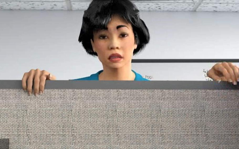 Tina, a character in the old version of the Cyber Awareness Challenge, is back in a new role.
