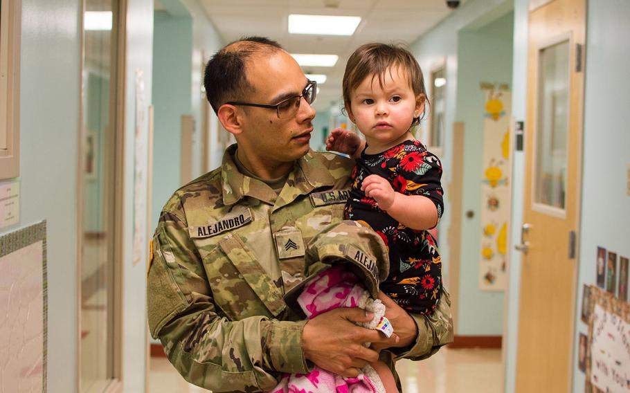 Military families may enjoy the convenience of on-post child care.