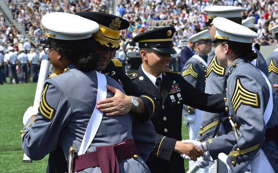The U.S. Military Academy at West Point holds its graduation and commissioning ceremony for the Class of 2018 at Michie Stadium in West Point, N.Y., May 26, 2018.