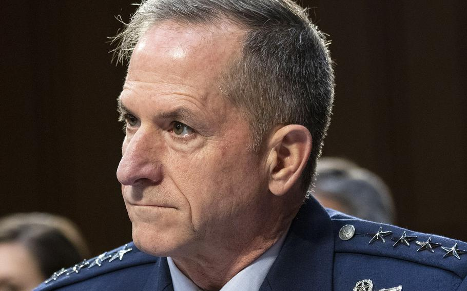 Air Force Chief of Staff Gen. David Goldfein, at a Capitol Hill hearing in 2019.