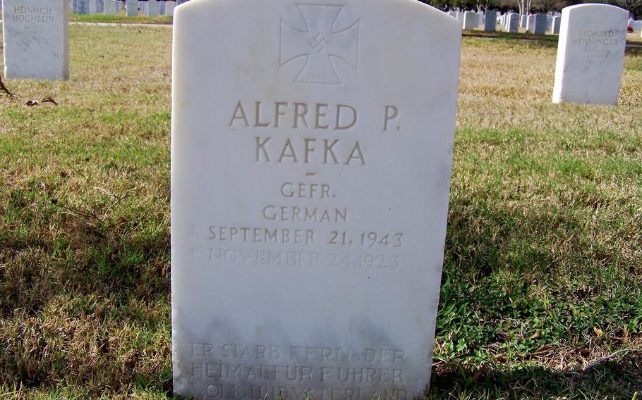 Headstone of a fallen German WWII POW.