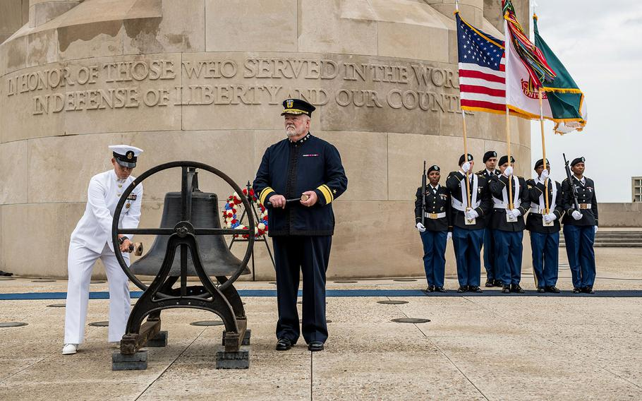The National World War I Museum will host three online ceremonies to honor Memorial Day. The noon ceremony includes the tolling of a bell originally located at a federal building in downtown Kansas City. The bell was rung daily by the Daughters of the American Revolution during U.S. involvement in World War I.