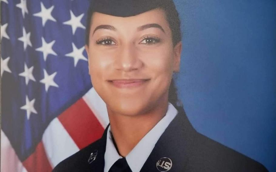 Natasha Aposhian, a 21-year-old from Phoenix, Ariz., was just beginning her Air Force career at the North Dakota base, her parents Brian Murray and Megan Aposhian said Tuesday in a statement about their daughter's death.