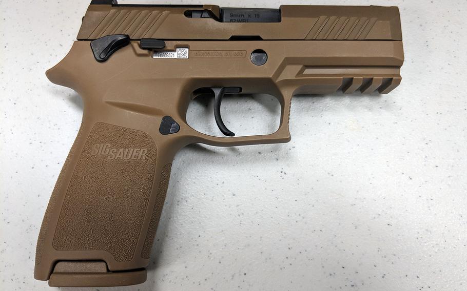 The Air Force has begun fielding the new Sig Sauer M18 modular handgun.