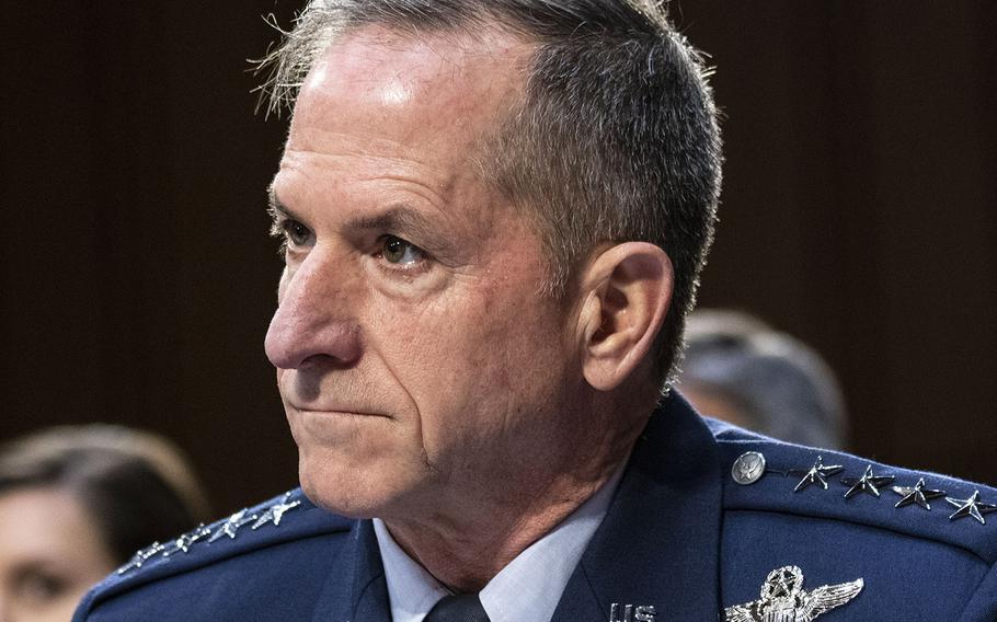 Air Force Chief of Staff Gen. David Goldfein, at a Senate hearing in 2019.