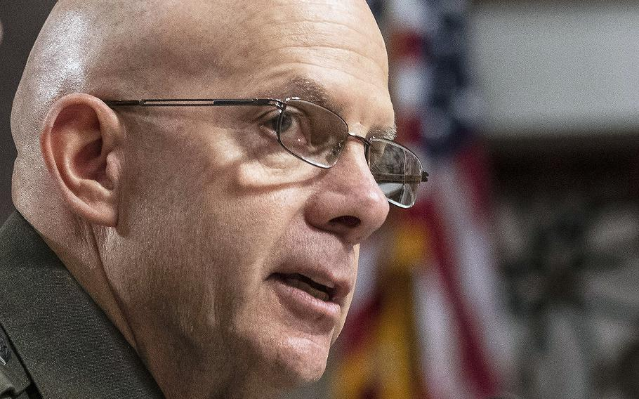 Marine Corps Commandant Gen. David H. Berger, at a Capitol Hill hearing in 2019.