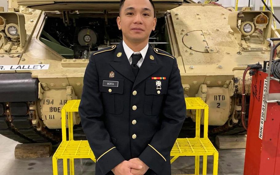 Pvt. Mejhor Morta, 26, joined the Army in September as a Bradley Fighting Vehicle mechanic. His body was found last week at a lake near Fort Hood, Texas, where he was stationed since May.
