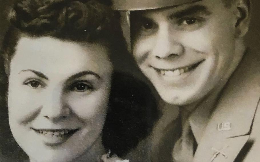 Col. Richard Williams with his wife, Doris. They were married shortly after he was commissioned in June, 1945; Doris passed away in 2016.