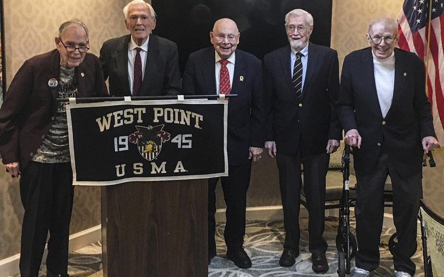 A February, 2020 photo from the last gathering of the West Point Class of '45 before the pandemic. Col. Richard Williams is in the center.