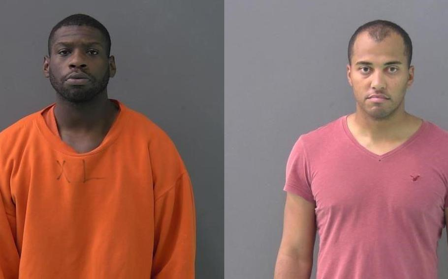 Spc. Anthony Xavier Antwon (left), 25, and Pfc. Timmy Jones Jr., 30.
