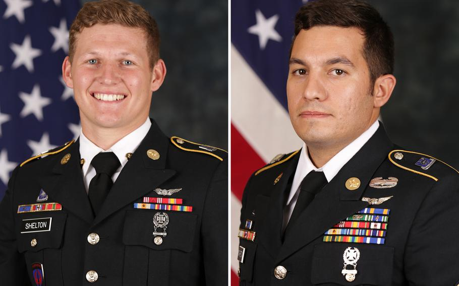 Sgt. Tyler Shelton, left, and Staff Sgt. Vincent Marketta.