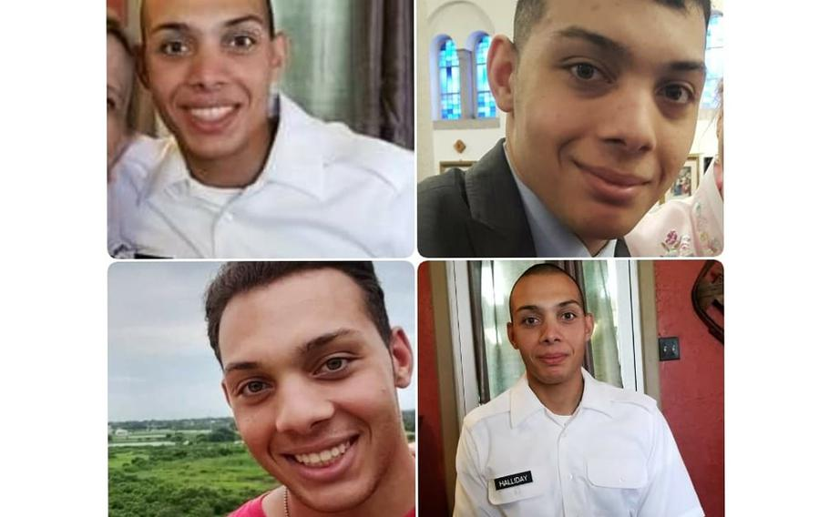 Pvt. Richard Halliday, 21, has been missing from Fort Bliss since July 24. His family learned Aug. 28 of his disappearance and is seeking the public's help in locating him.