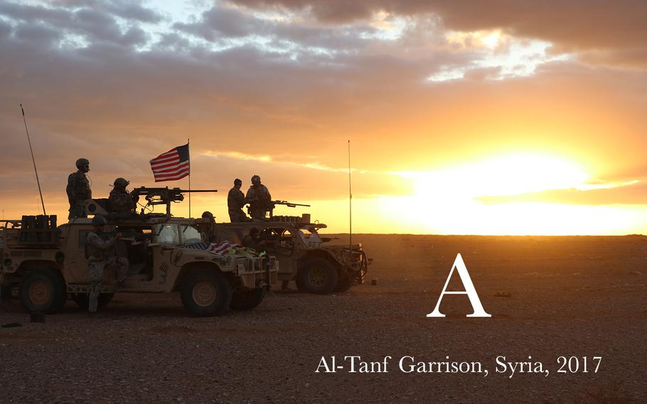 Members of 5th Special Forces Group (A) conducting 50. Cal Weapons training during counter ISIS operations at Al Tanf Garrison in southern Syria.