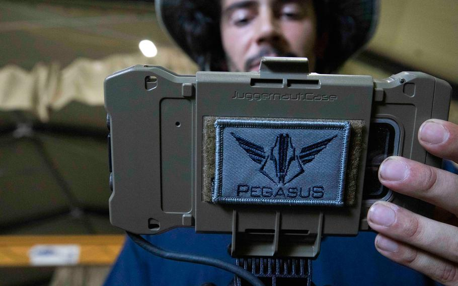 Luke Travisano, engineer with Robotic Research LLC, conducts a test run of the autonomous system Pegasus, during the Project Convergence capstone event at Yuma Proving Ground, Arizona, Aug. 11 - Sept. 18, 2020.