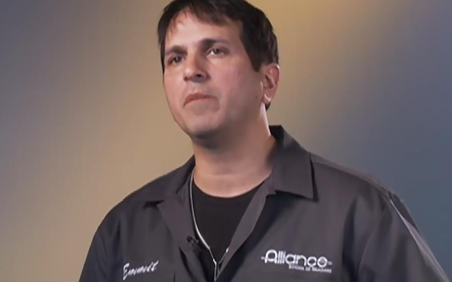 Emmit Marshall, as seen in an Alliance School of Trucking video.