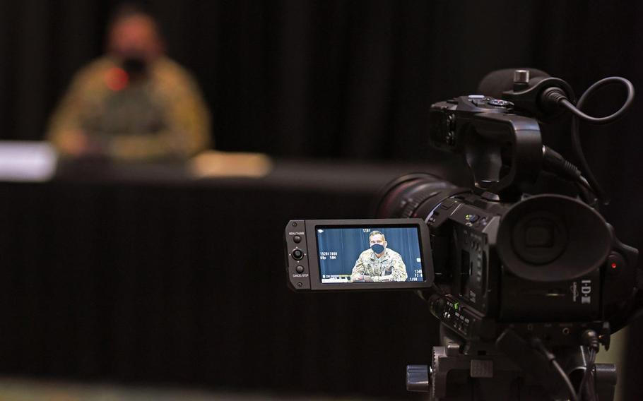Three weeks after taking command of the 1st Armored Division and Fort Bliss, Texas, Maj. Gen. Sean Bernabe hosted his first Fort Bliss Coronavirus Facebook Town Hall as the senior commander on Oct. 22, 2020.