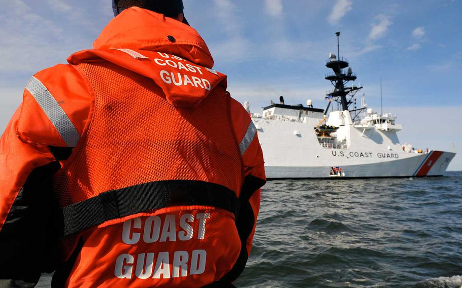 The Coast Guard cutter Stratton, seen here in 2011, returned to its homeport in Alameda, Calif., Wednesday, Nov. 18, 2020, after 11 crew members tested positive for the coronavirus.