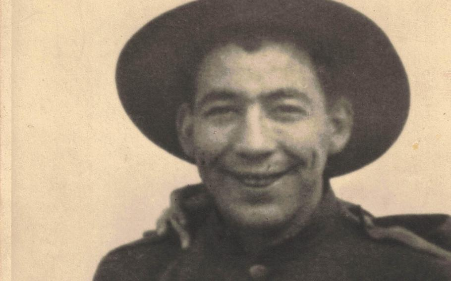 Charles McAllister poses in his World War I uniform in this undated photo.