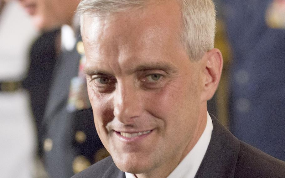 Then-White House Chief of Staff Denis McDonough, now President Joe Biden's pick to serve as Secretary of Veterans Affairs, at a Medal of Honor ceremony in 2014.
