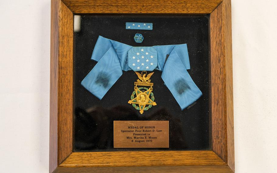 The family of Army Spc. Robert Law donated the soldier's Medal of Honor to the National Medal of Honor Museum Foundation, which is projected to open in 2024 in Arlington, Texas. Law died in February 1969 when he threw himself onto an enemy grenade and saved the lives of other soldiers. His mother accepted his medal for those actions. New legislation would pave the way for the museum to go beyond accepting medals from families and acquire those that have ended up overseas, which are not legal to import back to the United States.\