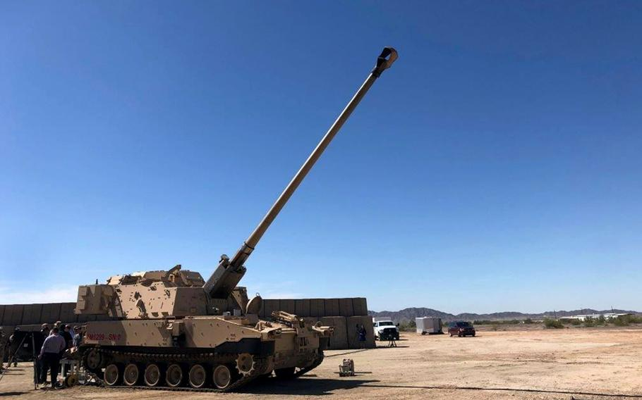 The U.S. Army fired three M982A1 Excalibur weapons from its Extended Range Cannon Artillery prototype, with one round striking a direct hit a target at a range of 43.5 miles, Dec. 19, 2020.