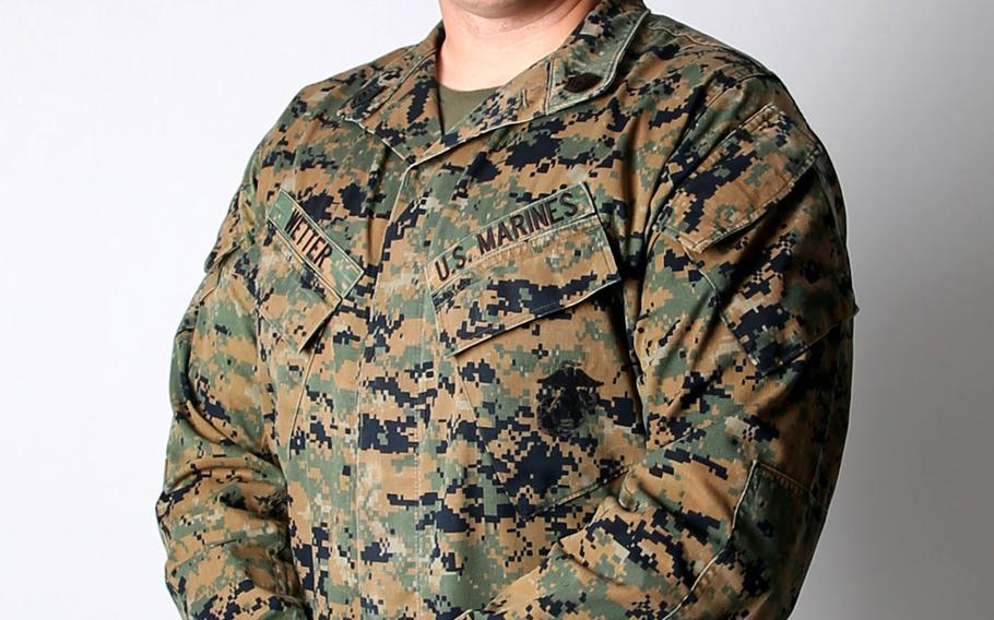 Marine Gunnery Sgt. Kyle Wetter sprang into action to help save the life of an 18-month-old child trapped in a burning vehicle in Fallbrook, Calif., Dec. 7, 2020.
