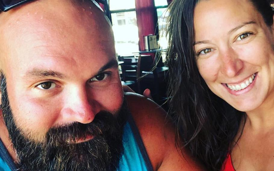 Ashli Babbitt, shown here with her husband Aaron Babbitt in a 2018 photo from social media, was identified as the woman shot and killed while participating in the takeover of the Capitol Building in Washington D.C., Wednesday. Babbitt was a U.S. Air Force veteran, according to media reports.