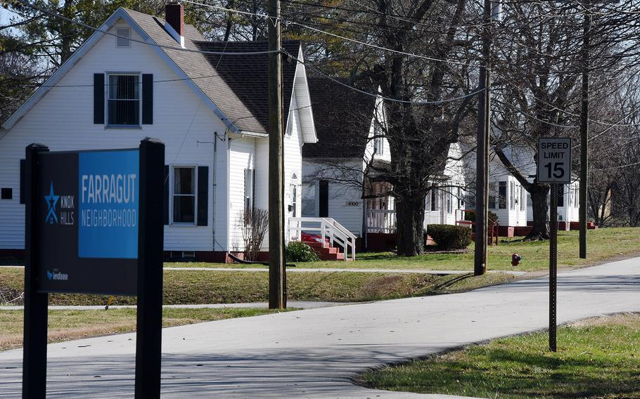 A housing area at Fort Knox, Ky. Fort Knox is one of six bases that will benefit from $1.1 billion being invested in improving military housing.