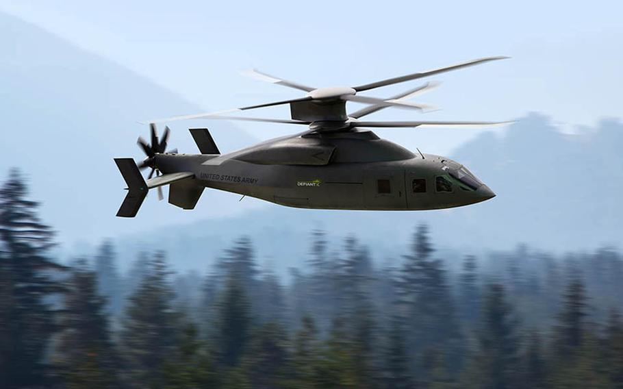 Boeing says its Defiant X helicopter, developed with Sikorsky, is capable of flying low and fast to bring troops where needed while evading adversaries over complex terrain.