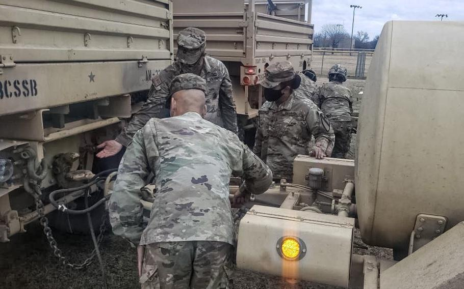 Fort Hood provided drinking water Sunday to five nearby cities impacted by the winter storm last week. The central Texas base also experienced challenges, with more than 1,000 leaks and breaks identified in base facilities.