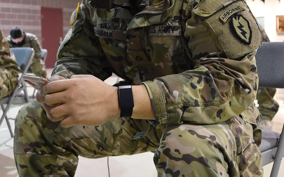 About 1,000 soldiers from the 4th Infantry Brigade Combat Team, 25th Infantry Division at Joint Base Elmendorf-Richardson in Anchorage, Alaska, were issued in January a wearable device to measure their physiological data in an effort to improve the resiliency of soldiers operating in harsh conditions.