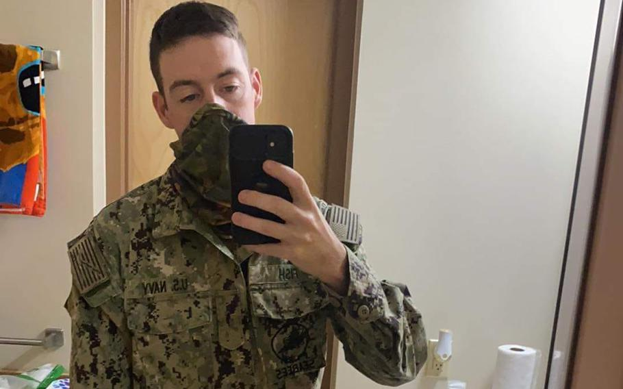 Aaron Michael Fish, 26, a sailor assigned to the Naval Mobile Construction Battalion 5, died in a vehicle accident near San Onofre State Beach, Calif. Tuesday. Five other sailors were injured in the incident.