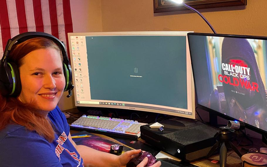 Jody Farmer, a wounded Army and Navy veteran, works as a coach for the esports team at the University of Oklahoma. She had been playing video games through online meetups hosted by the Wounded Warrior Project.