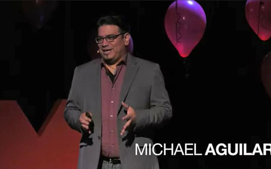 Mike Aguilar, founder of the esports department at the University of Oklahoma, gives a talk about the emerging competitive video gaming industry in a speech posted on YouTube on Oct. 22, 2019.