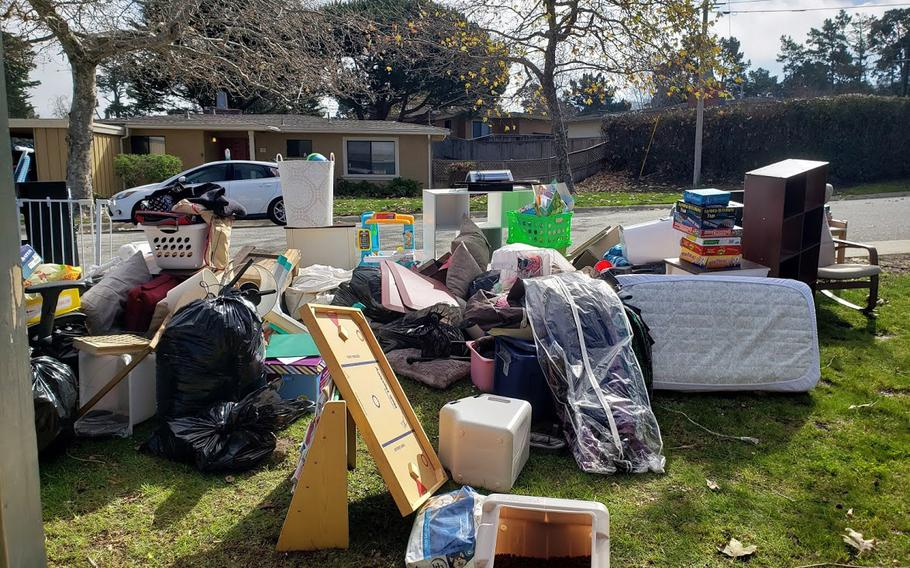 Two military families filed a lawsuit against the companies that manage base housing in Monterey, Calif., because they said mold in the homes sickened their children and ruined all of their personal belongings. Both families emptied their homes and sent nearly everything to the city dump.