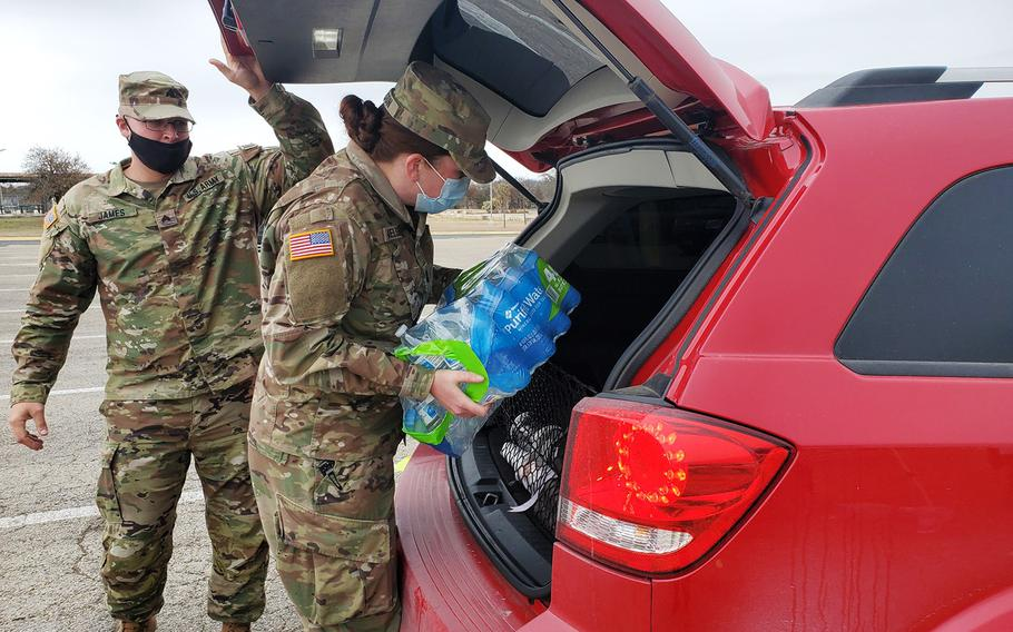 Fort Hood military police supported the civilian community with water distribution last month following a severe winter storm, which helped renewed efforts to improve on- and off-base relationships.