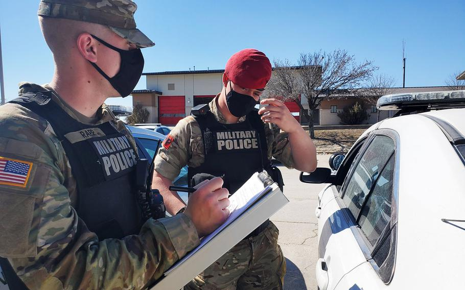 Fort Hood military police, who recently conducted joint patrols with British military police, have taken steps to improve its communication lines to base residents and nearby civilian police departments in response to the Fort Hood Independent Review Committee's report released three months ago.