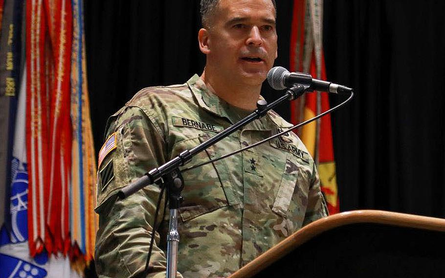 Maj. Gen. Sean Bernabe, commander of the 1st Armored Division and Fort Bliss, Texas, has taken the report of the Fort Hood Independent Review Committee and assumed all the problematic conditions it identified at Fort Hood are occurring at Fort Bliss. In the three months since the report's release he has completed 13 initiatives, mostly aimed at better supporting victims of sexual assault.
