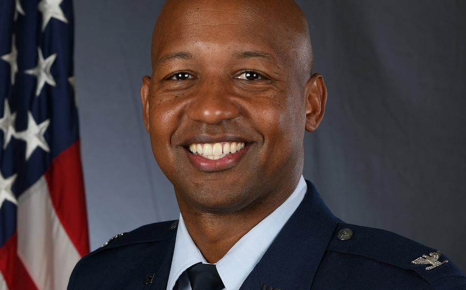 An official portrait of Col. Jaron Roux, the commander of the 437th Airlift Wing at Joint Base Charleston, S.C. Roux was fired April 1, 2021 following an investigation into allegations he engaged in unprofessional relationships and fraternization.