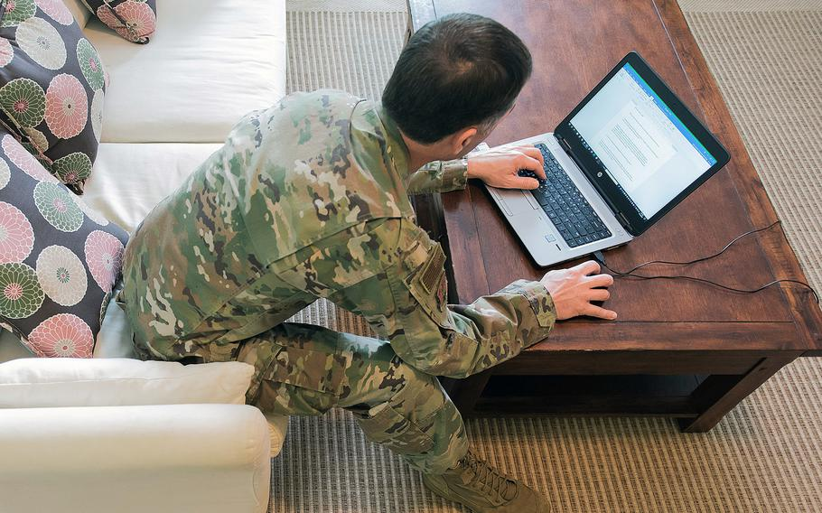 Nearly half of the roughly 50,000 military personnel surveyed in a Defense Department Inspector General report released April 1, 2021, reported higher levels of production while teleworking.