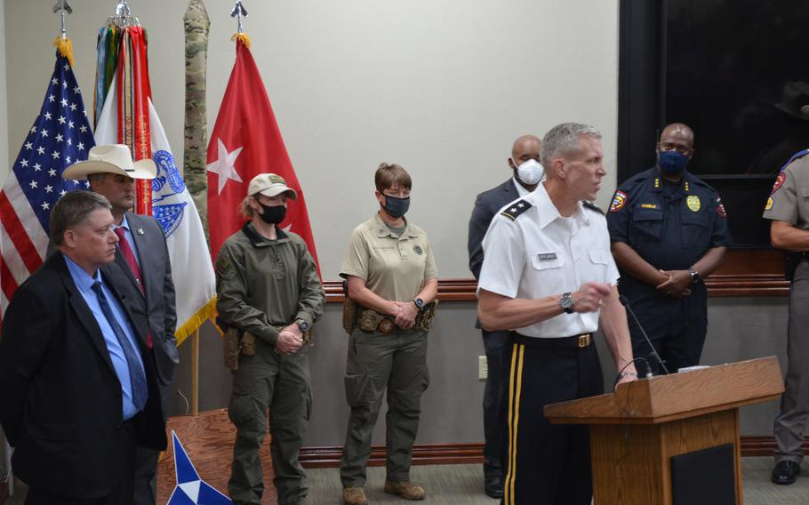 Maj. Gen. Scott Efflandt has served as acting commander of Fort Hood for the past year. His new assignment as commander of the 1st Armored Division and Fort Bliss, Texas, was canceled. He will remain at Fort Hood amid investigations surrounding the death and disappearance of Spc. Vanessa Guillen.