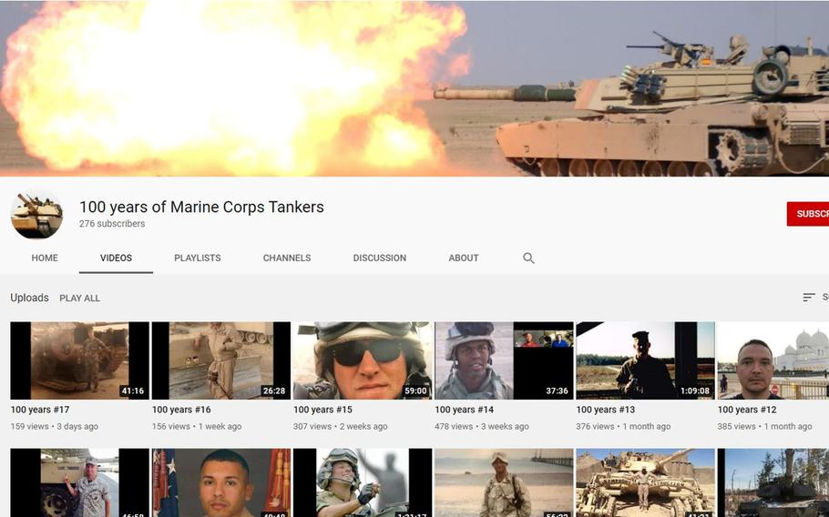 """Maj. Ronald """"JR"""" Valasek, an armor officer and prior enlisted tanker, launched a YouTube channel this summer devoted to preserving Marine Corps tank history and culture."""