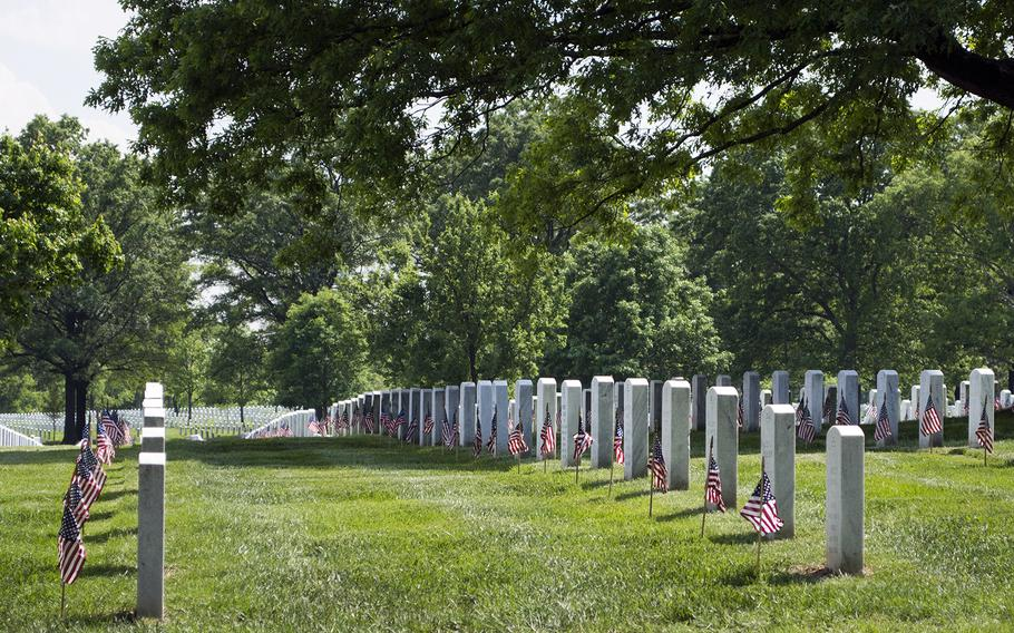It was a simple but powerful gesture: One thousand soldiers placing the toe of a combat boot against the center of a headstone, then planting a flag at the heel.