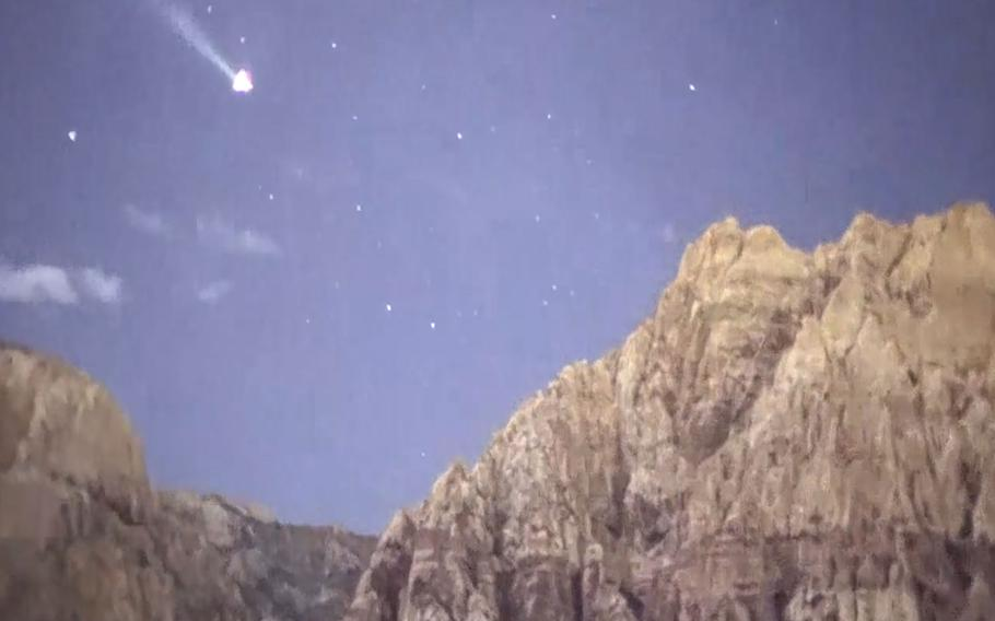 This still from a video shot using an x27 night vision system shows stars against a fully colored sky thanks to the system's ability to display color.