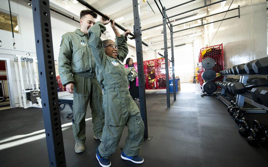 Je'Moni Ford and his family were hosted by the Air Force Academy's Cadet for a Day program, in partnership with the Make-A-Wish Foundation, Friday, March 15, 2019.