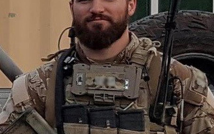 """Tech. Sgt. Cam Kelsch will receive both the Silver Star Medal and Bronze Star with """"V"""" device for valor during a ceremony April 9, 2019."""