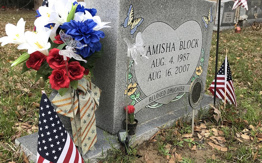 Spc. Kamisha Block was buried in her hometown of Vidor, Texas. Twelve years after she was murdered by a fellow soldier at Camp Liberty, Iraq, the Army has reopened the investigation into her death.