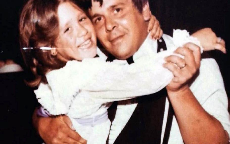 Ronald Choplinsky poses with daughter Sharon in the early 1980s.